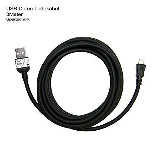 Extra langes 3 Meter USB Sync- & Ladekabel für Garmin nüvi 3790T nuvi 3760T 2350LT 3790LMT 3590LMT 3490 3790 3590 2445LMT 2797 LMT Golf GPS Approach G7 RV 760 camper * - 3 Meter