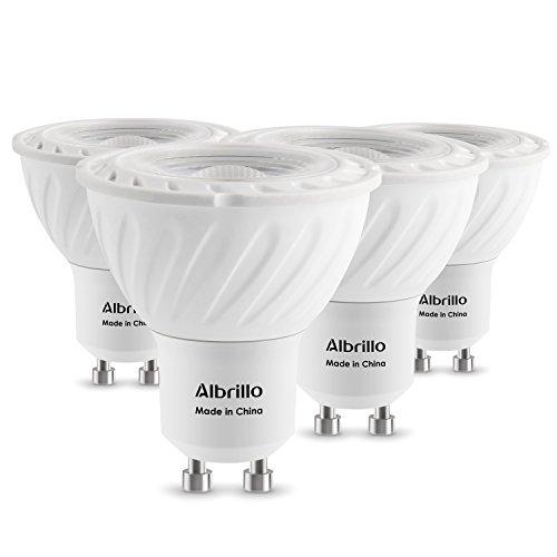 Preisvergleich Produktbild Albrillo 6W 520 Lumen GU10 LED statt 50W Glühlampe 3000k warmweiß und 120° Abstrahwinkel, 4er Pack