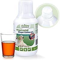 AniForte Omega-3 Lachsöl 250 ml für Katzen, Hunde und Pferde, Kaltgepresst, Reich an EPA, DHA und ALA Fettsäuren, Natur Pur, Barf Ergänzung