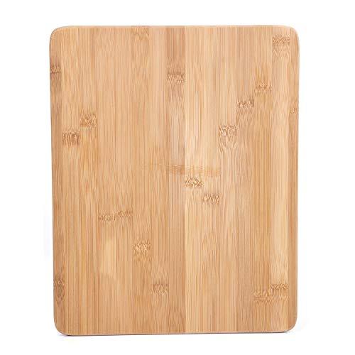 Royalford, tagliere in bambù - grande tagliere (380 x 300 x 18 mm) - ideale per carne, verdure, pane e formaggio - livello professionale per resistenza, durata e leggerezza