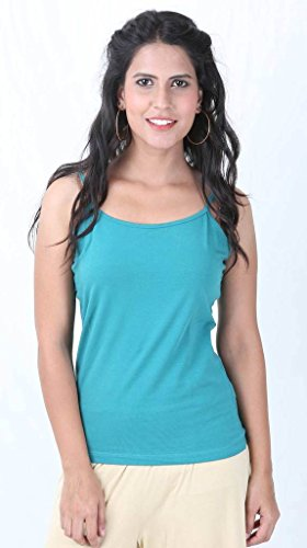 De Moza Ladies Knit Top Spegatti Regular 95% Cotton 5% Elastane Plain Teal blue XXL