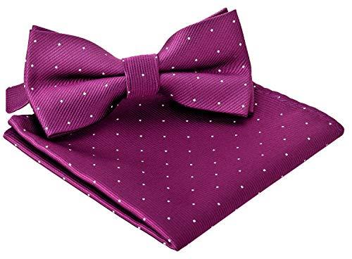 BomGuard Fliege für Herren violett I Männer Fliege für Hochzeit, Party oder edele Anlässe I Trendy Bow Tie I Black Tie Bow Tie