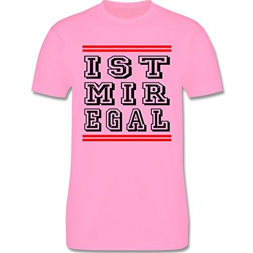 Statement Shirts - IST MIR EGAL - Herren Premium T-Shirt Rosa