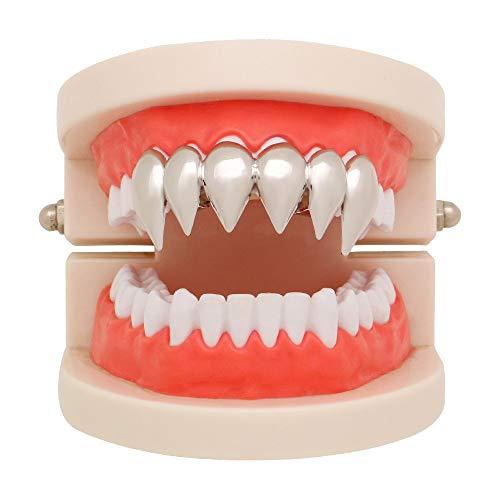 Hip Hop Teeth TAOtTAO 1 Stücke Hip Hop Zähne Grillz Top Mund Zähne Grills Fashion Removable Dental Grills (Silber)