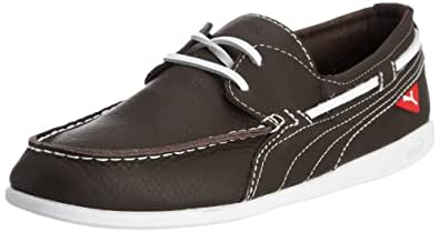 Puma Men's Yacht L Chocolate Brown and White Leather Running Shoes - 9 UK/India (43 EU)