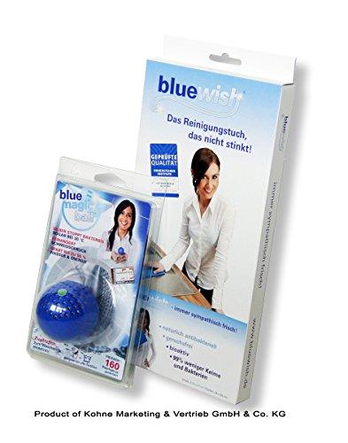 BlueMagicBall® und BlueWish® Probierset, das Reinigungstuch, das nicht stinkt & antibakterieller Waschball für Ihre Wäsche!