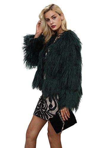 Simplee Apparel Damen Faux Fur Jacek Winter Elegant Warm