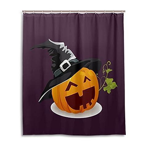jstel Rideau de douche de bain 152,4x 182,9cm, Happy Halloween fantôme mignon Spooky cimetière chauve-souris citrouille sorcière Spiderweb Design 52, à la moisissure Polyester Rideau de salle de bain en tissu