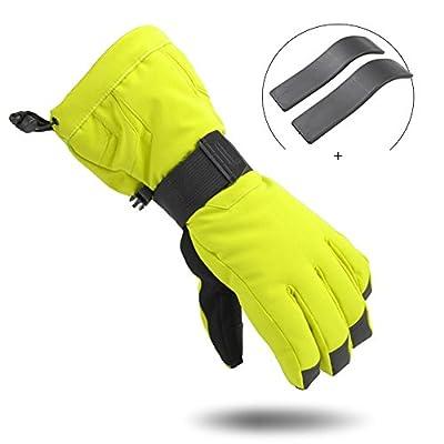 Bwiv Skihandschuh Handgelenkschutz Im Freien Winter Wasserdichtes Thermal Radfahren, Bergsteigen, Snowboard
