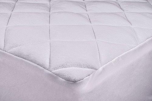 Sueño suave & sueño sweet en Royal comodidad de, nuevo doble colchón almohadilla de hojaldre con enriquecido, extra-plush con con tapa de relleno de fibra, Pure, blanco importados forro polar–dos capas. suavemente precio.