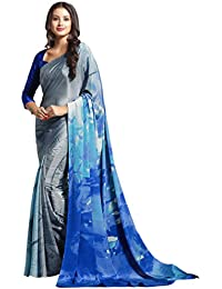 Vastrang Women's Pure & Soft Crepe Silk Party Wear Sarees Collection With Unstitched Blouse Piece_HT1