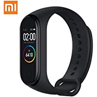 "Xiaomi Mi Band 4 Fitness Tracker, Newest 0.95"" Color AMOLED Display Bluetooth 5.0 Smart Bracelet Heart Rate Monitor 50M Waterproof Bracelet with 135mAh Battery up to 20 Days Activity Tracker (Black)"