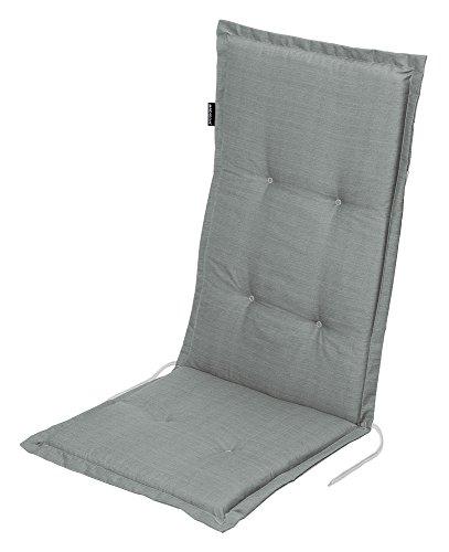 """Stuhlauflage für Hochlehner Auflage Gartenstuhlauflage """"Madison Grau"""" 50x118x5 cm"""