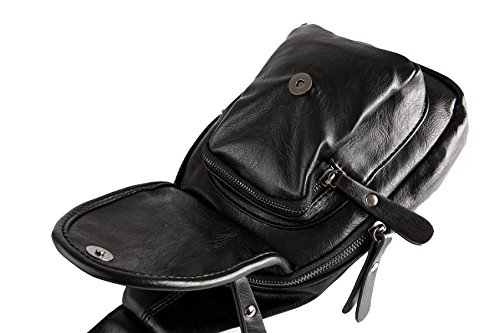 Yy.f Borsa Casuale Uomo Borsa Piccola Torace Zaino Trend Borsa Portapacchi Uomo Borsa Messaggistica Business Casual Sport Escursioni Marrone (nero E Marrone) Black
