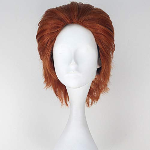 Heißen Kamm Schwarze Haare (HUNTER × HUNTER Hisoka Perücke orange rot schwarzer Kamm kurze Haare Cosplay Anime Perücke DURCH WIG MINE)