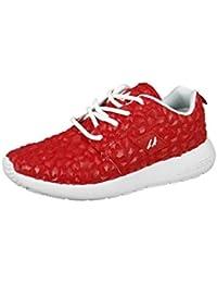 LA Gear zapatillas de deporte de la salida del sol Weiss L37-3611-05 malla blanca