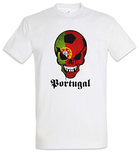 ce6dbcf51 Urban Backwoods Classic FÚTBOL Football Soccer Portugal Skull Flag T-Shirt  – Bandera cráneo Fan
