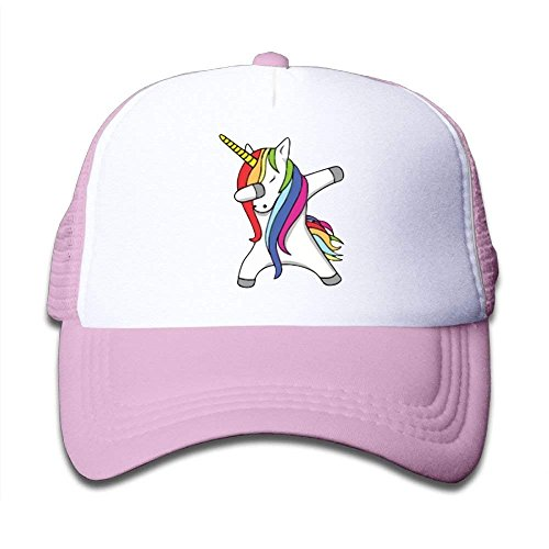 Personality Caps Hats Dabbing Unicorn Child Baby Kid Mesh Caps Adjustable Trucker Hats Summer Snapback