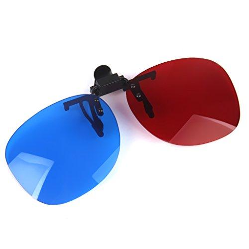 IPOTCH 1 Paar 3D Brillen Clip für Kino und TV z.B. cinema 3D Philips 3D natural Anaglyphenbrillen