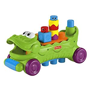 Fisher Price T4336 Stack 'n Surprise Blocks Musical Croc Block Wagon