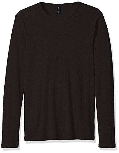 G-STAR RAW Herren Langarmshirt Base R T L/S 1-Pack, Schwarz (Black 990), Large (Crew Long Polo Shirt Sleeve)