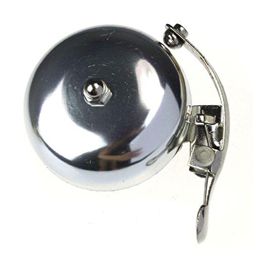 Vovotrade Classic Moto accesorios retro timbre de bicicleta Alarma metal manillar Horn (plata)