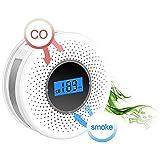 Bweele Gasmelder,2 in 1 Rauchmelder Kohlenmonoxidmelder Kohlenmonoxid Warnmelder CO Melder für Haus Küche Restaurant Hotel Schule Lagerhaus