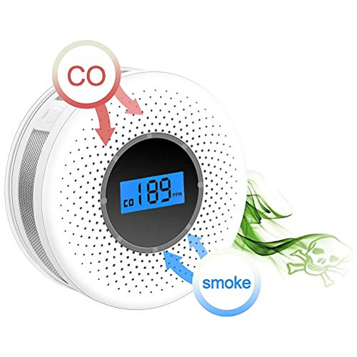 Mekta 2-in-1-Rauchmelder Kohlenmonoxidmelder für Unternehmen Supermärkte Kombinierte Rauch CO-Melder