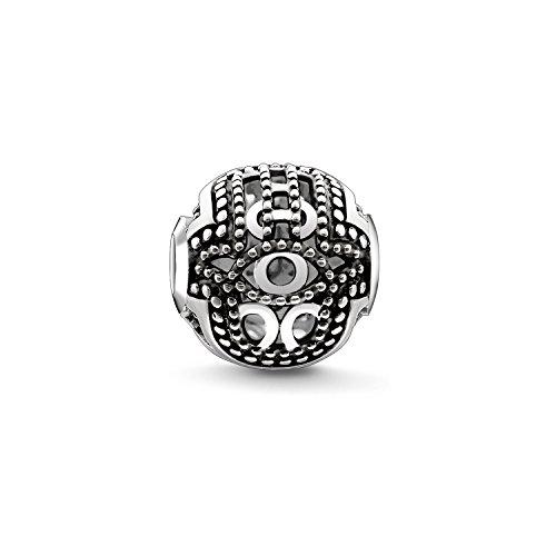 Thomas Sabo Damen Herren-Bead Fatimas Hand Karma Beads 925 Sterling Silber geschwärzt K0219-637-12