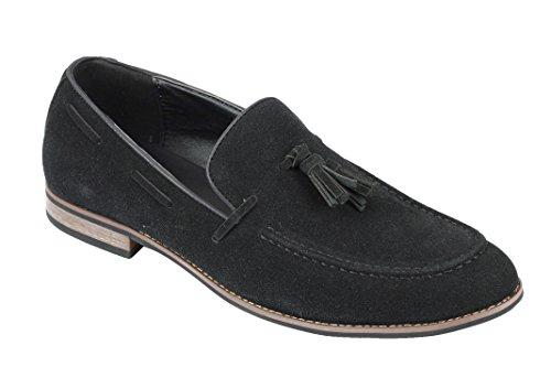 Xposed Herren Slipper, Schwarz - Schwarz - Größe: 41.5 (Schwarze Herren Dress Shoes Loafers)