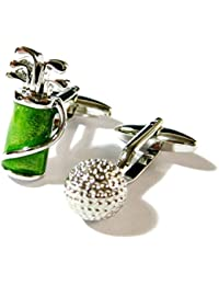 Green Golf Club und Ball Manschettenknöpfe Sport Golf Tasche gemelos schwarz 082007–4