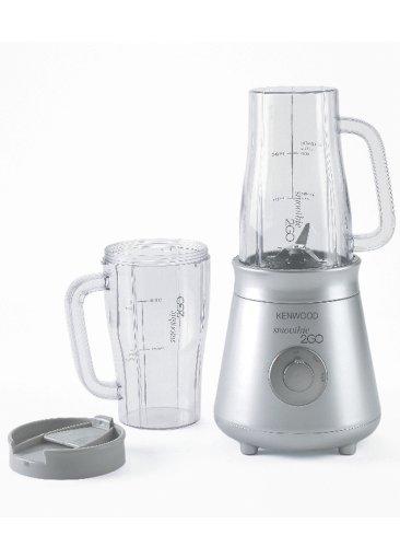 Kenwood Smoothie 2GO Batidora de vaso con 2 tazas, 25 W, 0.5 litros, Plástico, 2 Velocidades, Plata