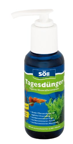 Söll Tagesdünger Aquarium Universaldünger Hochkonzentriert und Phosphatfrei Tägliche Wasserpflanzen-Power, 100 ml