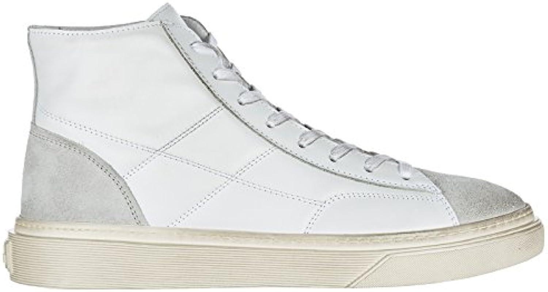 Hogan Herrenschuhe Herren Leder Schuhe High Sneakers h340 Weiß