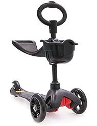 Patinete 3 en 1 kid scooter. Ideal para niños. Color negro.