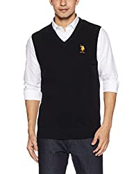 US Polo Assn. Mens Wool Sweater (8907378317858_USSW0640_Small_Black)