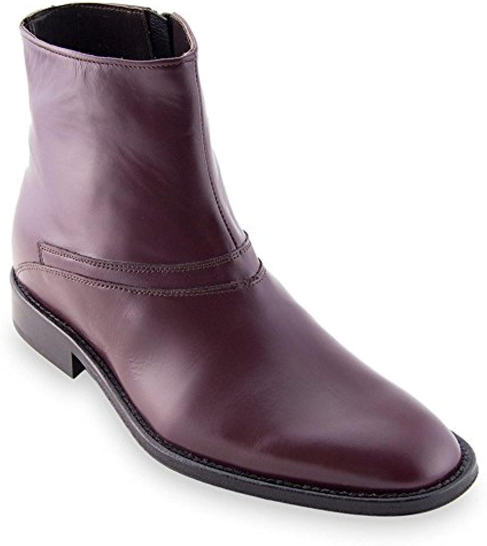 Masaltos Zapatos de Hombre con Alzas Que Aumentan Altura Hasta 7 cm. Fabricados EN Piel. Modelo Spoleto
