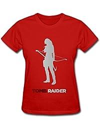 anskan Tomb Raider Renacer de mujeres camiseta negro