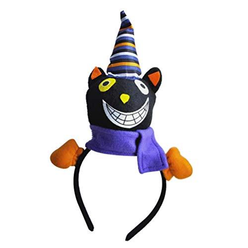 Amosfun Plüsch Stirnband für Mädchen Tag der Toten Kopfbedeckung Schwarze Katze Haarband Leistung Requisiten Haarband für Kind Kind Mädchen