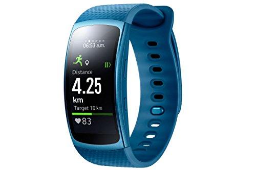 Samsung Gear Fit II - Smartwatch de 1.5' con frecuencia cardíaca y notificaciones, S, Color Azul [Versión importada: Podría presentar Problemas de compatibilidad]