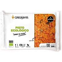 "CASCAJARES - Pisto Ecológico ""como en casa"" - Las mejores verduras ecológicas, bandeja 300 gramos, listo con 3 minutos de microondas. Sin gluten ni lactosa."