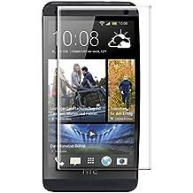 Protector de pantalla Cristal templado para HTC ONE M7 Calidad HD, Grosor 0,3mm, Bordes redondeados 2,5D, alta resistencia a golpes 9H. No deja burbujas en la colocación (Incluye instrucciones y soporte en Español)