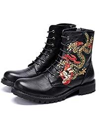 a73930d8 Mr.Zhang's Art Home Men's shoes Los Zapatos de Cuero Negro de otoño e  Invierno