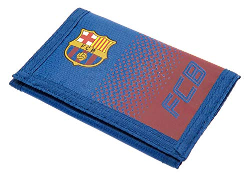 Barcelona FC Football Club Red Blue Fade Wallet Card Coins Pouch Cash Official