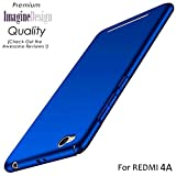 WOW Imagine All Sides Protection '360 Degree' Sleek Rubberised Matte Hard Case Back Cover For XIAOMI MI REDMI 4A - Blue