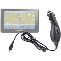 DURAGADGET Cargador Para El Mechero Del Coche Con Mini USB Para El GPS Binatone R430