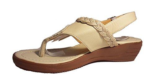 Sexy sandali, infradito donna, flip flop, beige, marrone, bianco, blu, rosso, nero-oro, rosa-rosso e leopardo, modello 11064105006001, modelli e numeri differenti. Beige con cordone.