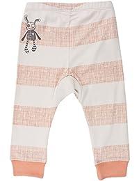 Small Rags bébé unisexe, pantalon taille élastique 100% coton, rayures écru/gris, 60084 00-06
