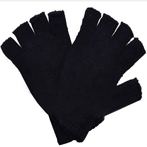 Small-shop-gloves Unisex Winterhandschuhe, weich, warm, fingerlos, Hstretch, Schwarz, Damen, schwarz, oneszie