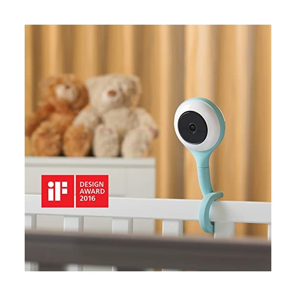 Lollipop - Smart Baby Monitor (Turquoise)  [Short Live Feed Latency] - 1 second latency with good WIFI signal under same WIFI, generally  3